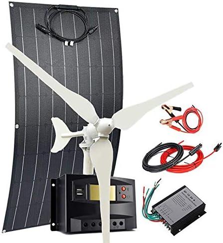 200W Wind Solar Kit Hybrid System 100W Wind Turbine Generator 100W Flexible Monocrystalline product image