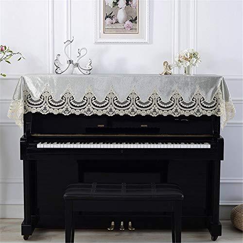 JenLn Classic Green Piano Kant Machine Geborduurde Cover Handdoek 90x200cm Universeel Toetsenbord Tassen
