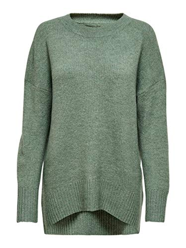 Only ONLNANJING L/S Pullover KNT Noos Suter Pulver, Bálsamo Verde, S para Mujer