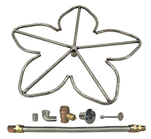 Spotix Penta Natural Gas Fire Pit Burner Kit, 24-Inch
