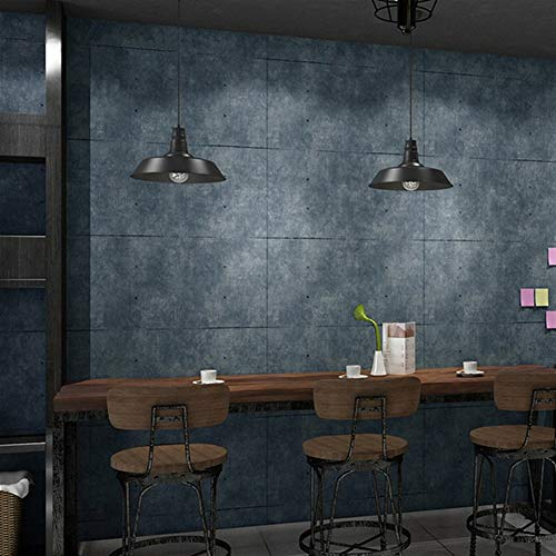 Wall Stickers ZYJ Vintage Grey Cement Wallpaper For Living Room Bar Restaurant Cafe Clothing Store Decor 3D Lattice PVC Vinyl Wall Paper Brick 9.3 (Color : 3)