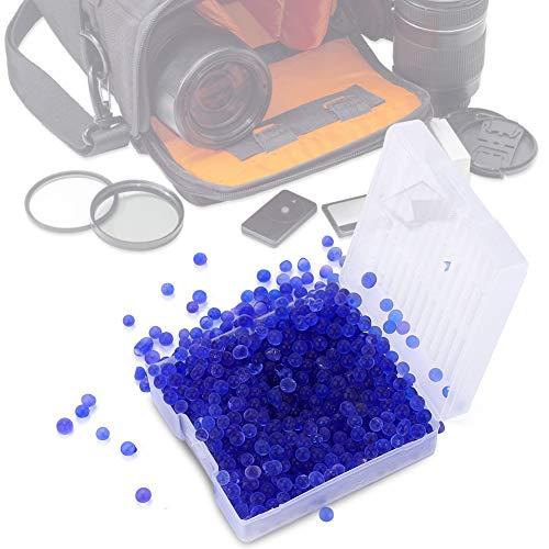 1 scatola di perline essiccanti, perline essiccanti in silicone riutilizzabili per l'umidità Deumidificatore a prova di umidità per fotocamera, per rimuovere l'umidità dall'aria circostante