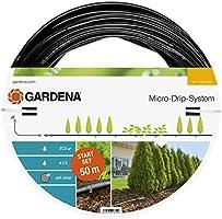 GARDENA startpaket plantrader L: Micro-Drip-trädgårdsbevattningssystem för skonsam, vattensnål bevattning av plantrader...