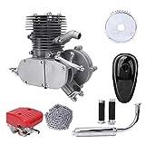 Alomejor Bicycle Engine Kit 2-Stroke Gas Motorized Bike Motor Kit Upgrade with Throttle Handle Switch 100cc