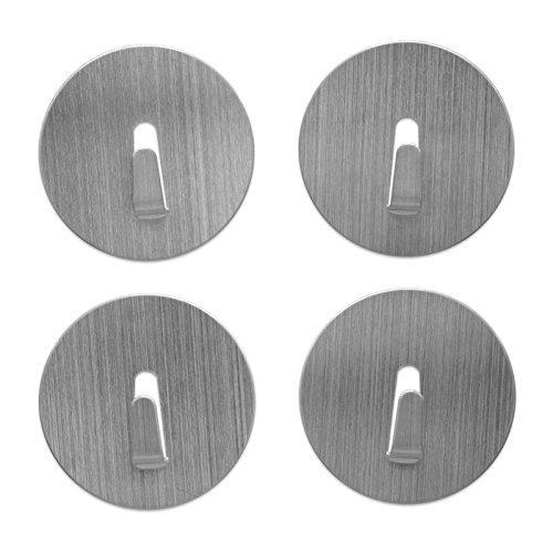 Magnethaken extrastark Ø 4 cm - 4er-Set Magnethaken klein Edelstahl, Farben:limone