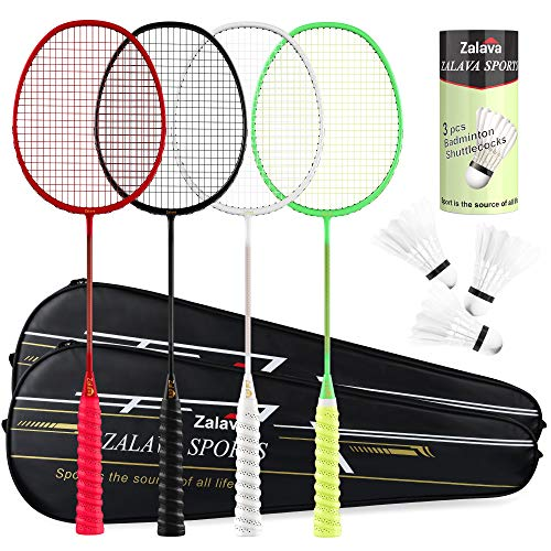 Super Light Badminton Rackets Badminton Racquets Set with Wrapped Overgrip