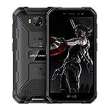 Armor X6 Smartphone, 5.0 pulgadas IP68 resistente 16GB ROM (128GB SD), Android 9.0 Quad Core, 8MP y 5MP cámaras duales, batería 4000mAh, GPS desbloqueo facial (negro)