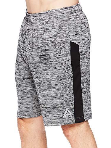 Reebok Men's Drawstring Shorts - Athletic Running and Workout Short - Cool Down Charcoal Heather, Medium