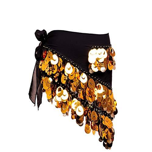 ROYAL SMEELA Danza del vientre Bufanda de la cadera Disfraz para mujer Danza del vientre cinturón Falda de baile Flamenco gitano Moneda Triángulo bufanda de caderas Ropa de mujer