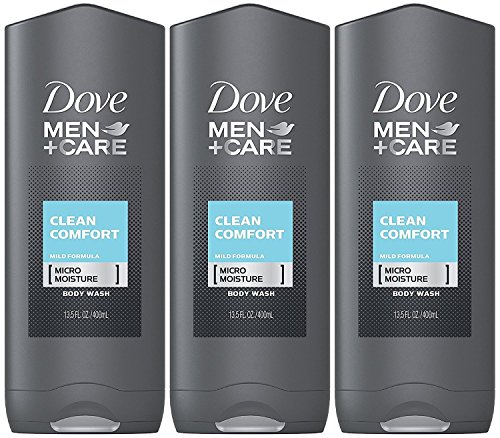 Dove Men + Care Body & Face Wash, Clean Comfort 13.50 Oz (Pack Of 3), 2.16...