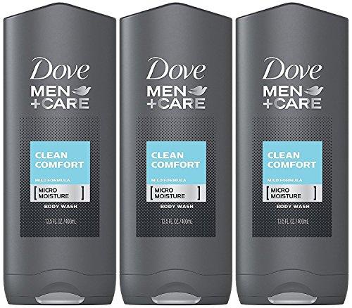 Dove Men + Care Body & Face Wash, Clean Comfort 13.50 Oz (Pack Of 3), 2.16 Lb