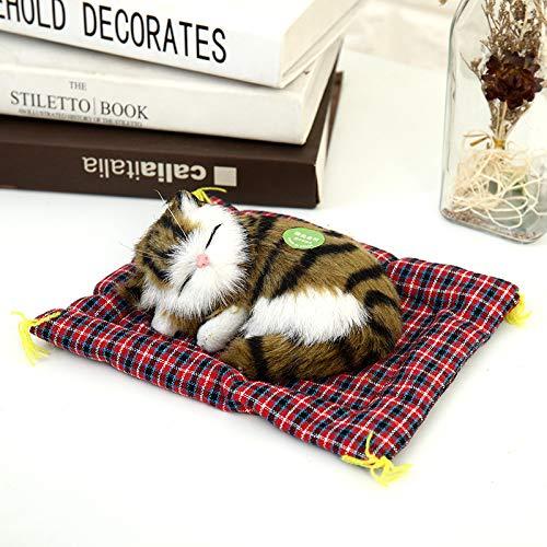 N/K PULABO Kinder Plüsch Stofftier, niedliche schlafende Katze Presse Simulation Sound Tier Puppe Geschenk hoher Qualität