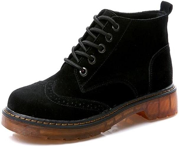 Bottes de dames Prougeection de la cheville plate et confortable Confort de marche en plein air , 38 , noir