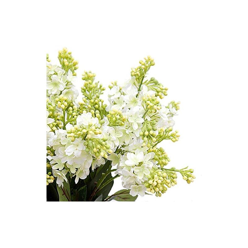 silk flower arrangements calcifer 10 stems (3 branches/stem) 27.56'' artificial lilac/syringa vulgaris l. bouquet artificial flowers for wedding party home garden office shop decoration (white)