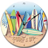 Fancy This SURF Boards Wall Art Clock Novelty surf Tropical Large 10 1/2'