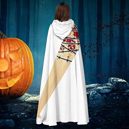 AISFGBJ - Disfraz de murcilago de Vampiro Lucille Negan Walking Dead, Unisex, para Navidad, Halloween, Bruja, Caballero, con Capucha, Vampiros