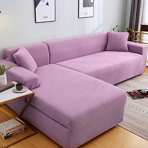 Fsogasilttlv Funda de sofá antisuciedad 1 Plaza, Juego de Fundas de sofá de Esquina de Color sólido para Sala de Estar, Fundas de sofá elásticas, Toalla de sofá elástica, sofá en Forma de L