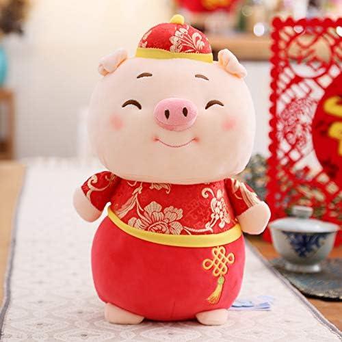 DONGER Cochon Année Mascotte Poupée Dodue Cochon Zodiaque Cochon Jouet Cochon Nouvel an Cadeau Poupée, Clin d'oeil, Hauteur 55Cm