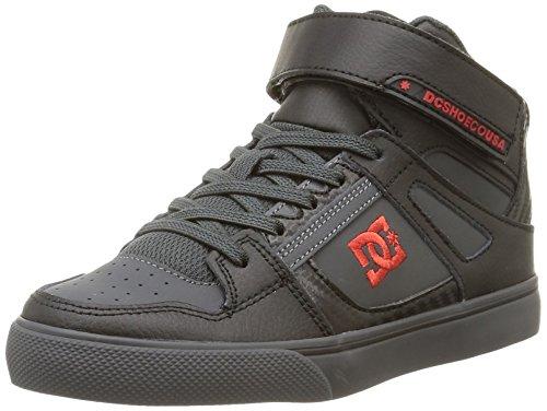 DC Shoes Spartan High Se Ev, Baby Jungen Krabbelschuhe, Grau (black/athletic Red/b), 28 EU (10 UK )