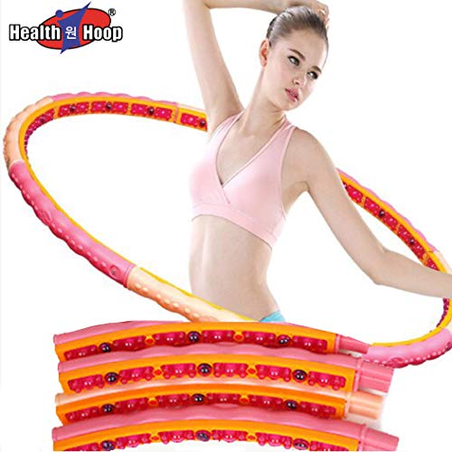 Dynamic Weighted Magnetic Health Hula Hoop for Fat Burning Workout(step2) Weight Loss 3.53lb(1.6kg) Fitness,Exercise,Diet