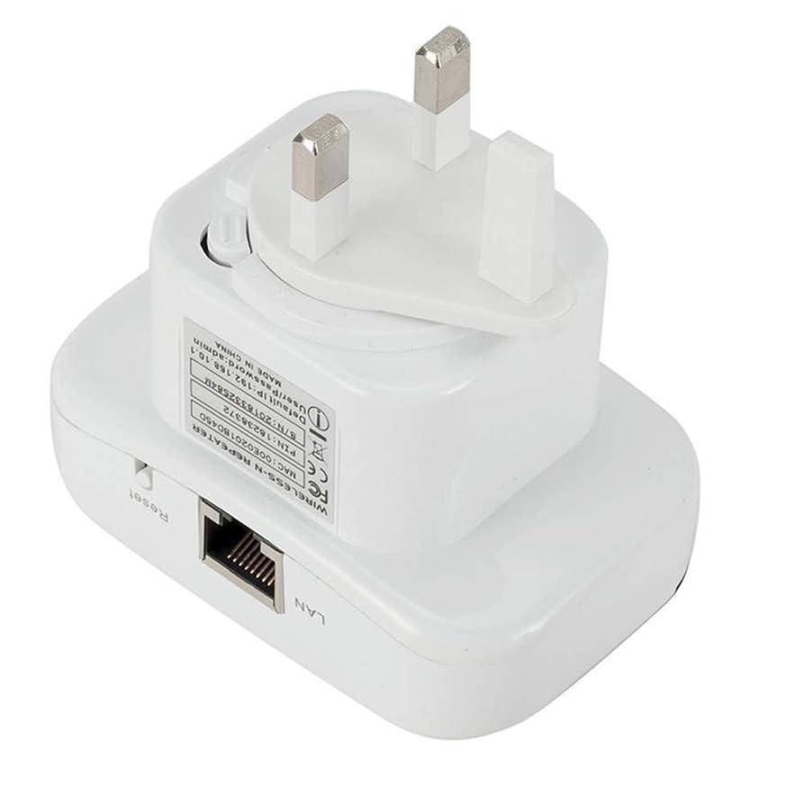 Missley Wifiリピータ300 Mbps信号ブースターホーム高速ネットワークレンジエクステンダ小型ワイヤレスネットワークアダプタ2.4 GHz (UK-Plug)