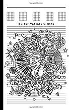 Guitar Tablature Book: Blank Guitar Tabs paper, Standard Staff & Tablature Featuring Twelve 6-Line Tablature Staves Per Pa...