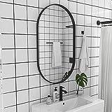 Yuanjj espejo de pared ovalado, marco de metal (dorado/negro) espejo de baño, estilo nórdico moderno - espejo de decoración de tocador para pasillo de dormitorio