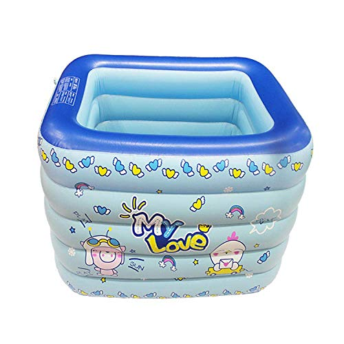 TUIHJA Piscina Inflable, Piscina Infantil para Mascotas, Niños Grandes, Piscina Inflable, Azul, Centro de Natación Paradise Seaside Pool
