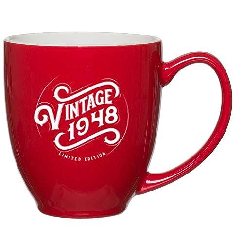 1948 71st Birthday Gifts For Women Men Red Mug