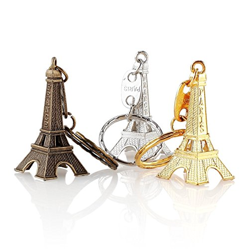 12pcs/lot Paris France Keychain 3d Eiffel Tower Favors French Souvenirs Paris Party Decorations Key Ring Christmas Gift