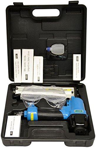 Güde 40220 Druckluftklammergerät Nagler (6 bar max Arbeitsdruck, max 40mm Nagel, 1mm Klammerstärke, Schutzbrille)