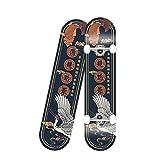 Complete Skateboard, 7-Level Maple Deck, Double Pedal Deck Concave Entry-Level Skateboard, 90kg Load