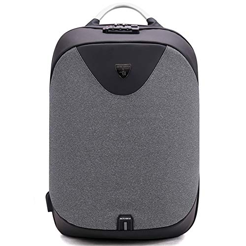 GinCuky Travel Laptop Backpack 17 15.6 Inch Business Anti Theft TSA Laptop Backpack with USB Charging Port, Water Resistant College School Bag, Dark Grey