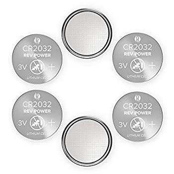REV Power Pack CR2032 3V Lithium Coin Cell Battery 6-Pack Long Lasting Coin Button Cell 2032 Batteries  6 Count  5 Year Shelf Life