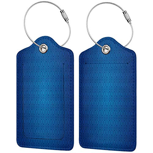 FULIYA Etiquetas para equipaje de viaje, etiquetas de identificación para tarjetas de visita, juego de 2, círculos, espirales, color, sombra