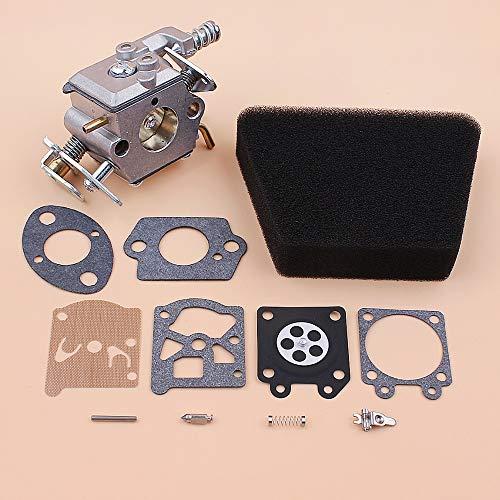Tiempo Beixi Filtro de Aire del carburador Kit de reparación de Juntas Compatible con Mac McCulloch 335 435 440 350 351 Socio de Gas Motosierra Recambios Walbro 33-29 Carb