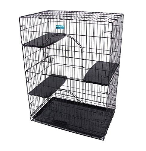PARPET Foldable Cat Wire Cages/Pet Playpen,2 Door