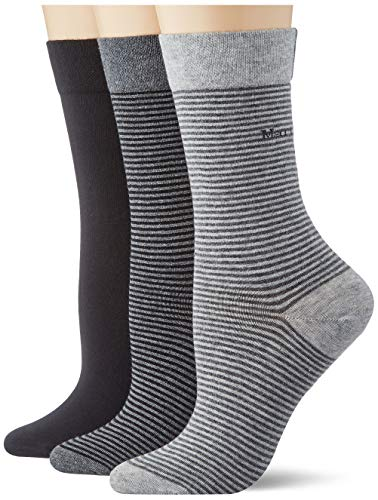 Marc O'Polo Body & Beach Damen Multipack W 3-Pack Socken, Schwarz, 35/38