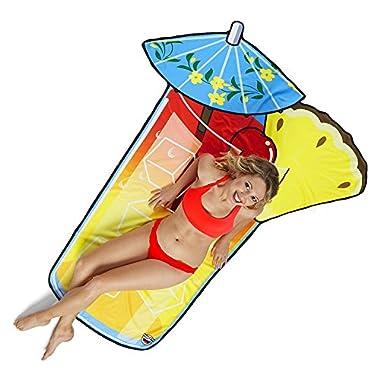 BigMouth Inc Gigantic Tropical Drink Beach Blanket– Fun Beach Blanket Perfect for the Beach, Pool, Lake and More, Machine Washable