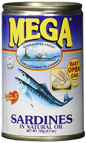 Mega Sardinen in Sojaöl, 24er Pack (24 x 155 g)