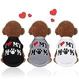 3 Piezas Camisas para Perros Camiseta para Perro Estampada Ropa de Mascotas Transpirable Linda Chaleco sin Mangas para Perros Ropa de Verano de Mascotas (Tamaño M)