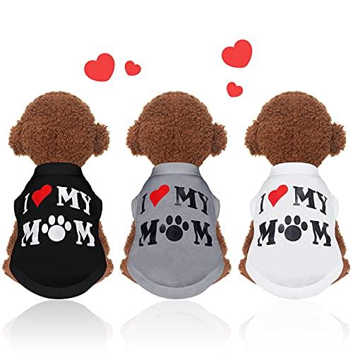 3 Maglietta per Cani Camicie per Cuccioli Stampata Vestiti Animali Domestici Traspiranti Abbigliamento Cani Carino Senza Maniche Canotta Estivo Cani Abbigliamento per Animali Domestici (M)