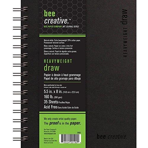 Bee Paper 160 lb. Heavyweight Draw Bee Creative Art Journal 5.5X8IN