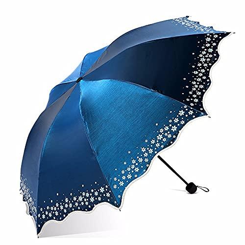 Ziayai Parasol ultraligero de protección solar de plástico negro 3 descuentos creativo plegable paraguas resistente al viento compacto ligero viajes de negocios portátil de alto grado