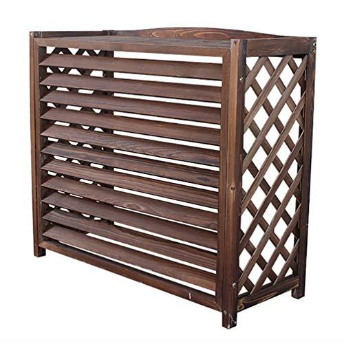 LHSG Blumenständer Klimaanlage Holzschutz-Klimarahmen,Hölzernes Klimaanlage-Außenrahmen Dekorative Kühlerabdeckung, Balkon-Betriebsblumen-Dekorations-Gestell