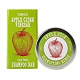 Eco-Friendly Apple Cider Vinegar SHAMPOO BAR Hair Tonic Best For Oily Hair | ACV for Dandruff & Dry Itchy Scalp | Organic Ingredients - Sulfate & Paraben Free - Beauty and the Bees