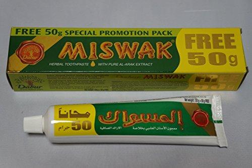 1Tube Zahnpasta Miswak Arabe–Herbal–Arak Natural 120g + 50Grs Free