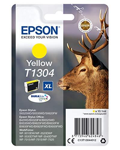 Epson C13T13044010 - Cartucho Inyeccion Tinta Amarillo T1304, XL, Ya disponible en Amazon Dash Replenishment