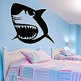 zqyjhkou Exquisito tiburón Vinilo Papel Pintado Rollo Muebles Decorativos para niños decoración de la habitación Empresa Escuela Decoración de Oficina Mural P73.1X68CM