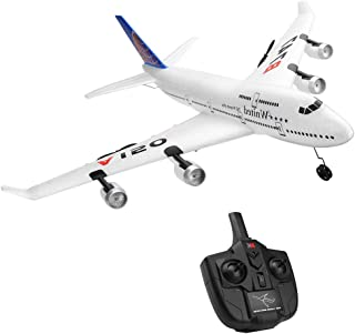 Sallymonday Imported RC Airplane RTF, 3CH 2.4G Remote Control Glider Sailplane Aircraft,3 Channel Built in 6 Axis Gyro System Super Easy to Fly for Beginners 14+ Years Old Kids Adult (A150- B747)